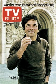 """Columbo"" Peter Faulk on TV Guide cover 1970s Tv Shows, Old Tv Shows, Columbo Tv Series, Lien Internet, Columbo Peter Falk, 20 Tv, Tv Detectives, Old Magazines, Great Tv Shows"