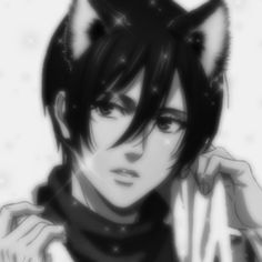 Mikasa, Armin, Anime Cat Boy, Sad Anime, Anime Manga, Connie Springer, Cat Icon, Himiko Toga, Look Man