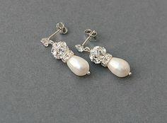 Wedding+pearl+earrings.+Bridal+bridesmaid+by+LavenderByJurgita,+$33.00