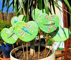 Dragonflies in the Garden