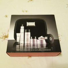 Giorgio Armani    Regenessence [3.R] Skincare Set    INCLUDES:    Full Size Regenessence High Lift [3.R] Multi-Firming SPF 15 Cream - 50mL - retail value $155   Full Size Regenessence High Lift [3.R] Multi-Firming Rejuvenating Rich Cream - 50mL - retail value $155   Full Size Regenessence [3.R] Eye Balm - 20mL - retail value $105   Trial Size Regenessence [3.R] Youth Regenerator - 10mL - retail value $48 (full size product is 30ml with $145 value)   Trial Size Regenessence [3.R]