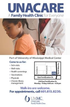 University of Mississippi Medical Center - UNACARE Family Medicine Clinic poster (June 2015)