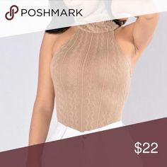 *BUNDLE & SAVE* Taupe Turtleneck Bodysuit! *BUNDLE & SAVE* This is a bodysuit! It has a turtleneck. Unfortunately, once I received it, it was too small for me! I usually wear a size small in tops, but with bodysuits I have to get mediums. The material is polyster and nylon. Great material and is NOT a thin material. Other