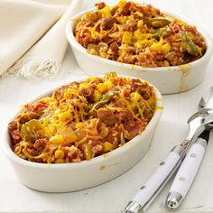 Stuffed Green Pepper Casserole - Made with Italian sausage, rice ...