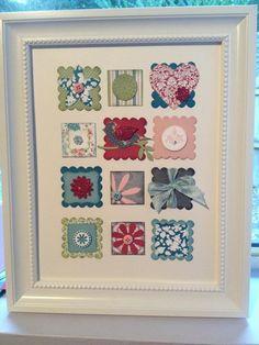 Linda Higgins: Collage Frame Class - Stampin' Up Frame