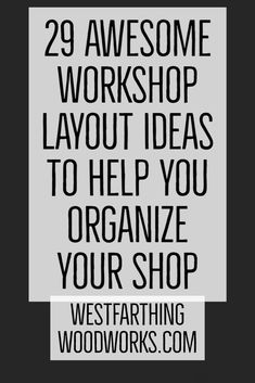 Get the most from your small shop. I've been in small shops all my life, so I know how to make the most of the space and I'll show you how. Woodworking Education, Woodworking Shop Layout, Woodworking Bench, Rolling Tool Box, Workshop Layout, Set Of Drawers, Wood Storage, Natural Light, Helpful Hints