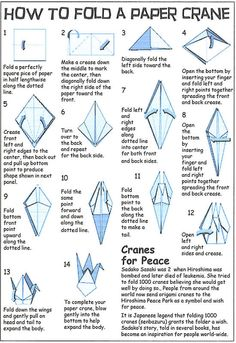 1000 images about origami on pinterest origami cranes for Crane folding instructions
