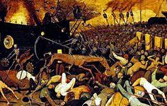 TRIUNFO DE LA MUERTE. Bruegel el Viejo, Pieter. 1562-63. Detalle