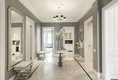 Love colour palette, soft pastel greys, lovely flooring