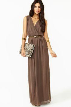 Mocha Empress Spike Maxi Dress