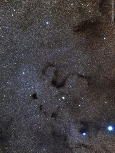 Dark nebulae snake across a gorgeous expanse of stars in this telescopic view toward the pronounceable constellation Ophiuchus and the center of our Milky Way Galaxy. In fact, the twisting central shape seen here is well known as the Snake Nebula. It is also listed as Barnard 72 (B72), one of 182 dark markings of the sky cataloged in the early 20th century by astronomer E. E. Barnard.