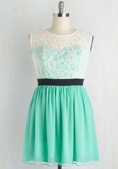 Shortcake Story Dress in Turquoise   Mod Retro Vintage Dresses   ModCloth.com