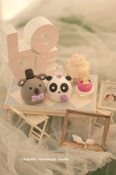 pastel de cumpleaños de Koala y panda