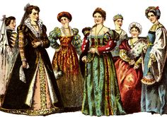 f943a0ff8a Women during this time gowns with many designs and patterns and they  started wearing low necklines with their breast pushed up and flattened