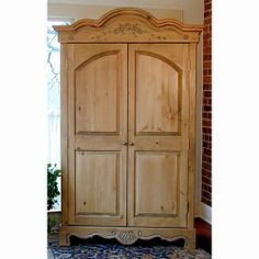 Southern Pine Country French Armoire