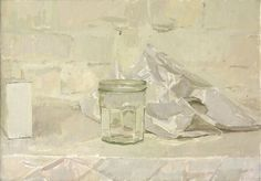 "Alexander Fowler, ""Still Life with Jar"", oil on canvas."