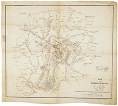 Robert E. Lee's map of Gettysburg, July 1863
