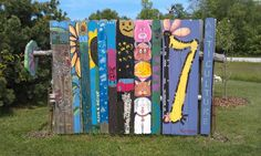 Creative privacy fence