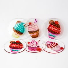 Acrylic Coasters | cup cakes
