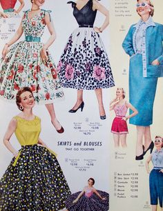 How I love the 50s. Seriously, how gorgeously flattering are these A-line styles? - via VixenVintage
