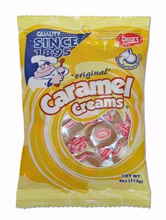 Caramel Creams in a perfectly sized snack bag. Now available at our online store.