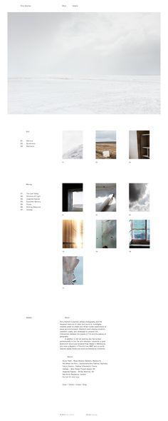 Polly Stanton \\ Clean minimalist & responsive portfolio.