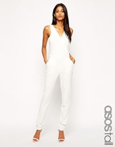 Enlarge ASOS TALL Exclusive Wrap Front Jumpsuit