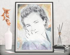 Add styled romantic appeal to your art wall! Fashion print poster - Printable art by FraBor Art.