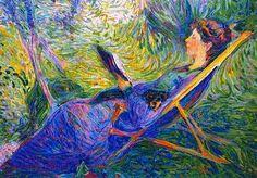 Sophie Herrmann lendo Curt Herrmann (Alemanha, 1854-1929) óleo sobre tela