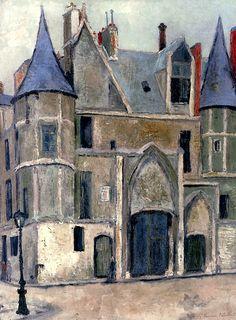 Hôtel de sens à Paris Maurice Utrillo - circa 1910