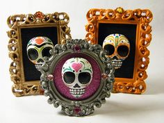 VICTORIAN SKULL FRAMES by My Mayan Colors, via Flickr