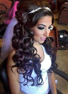 #promhair #weddinghair #elegant #longhair #curly #halfup