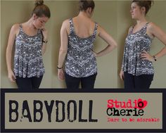 9082d318ab4 Sewing Pattern Misses Babydoll Top Bust Size 32-48 PDF instant download  sewing pattern