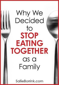 Feeling the pressure to eat all your meals together as a family? As homeschoolers, we made the decision to stop eating all of our meals together and it has been great for our family.