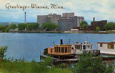 Mississippi River, Winona, Minnesota, 1959 www.visitwinona.com