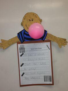 No Gum Chewing David! Predicting Activities, Writing Activities, Preschool Activities, Kid Books, Children's Books, Beginning Of School, First Day Of School, Teacher Resources, Teaching Ideas