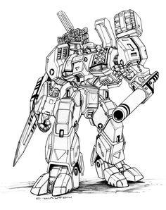 Robotech+MBR+05+Mk+X+TomahawkDestroid+by+ChuckWalton.deviantart.com+on+@DeviantArt