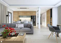 DOBRY 3 - salon - zdjęcie od DOMY Z WIZJĄ - nowoczesne projekty domów - Salon…