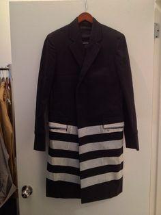 long line coat with painted panels (eu 46) • helmut lang US $800.00 BIN/OBO