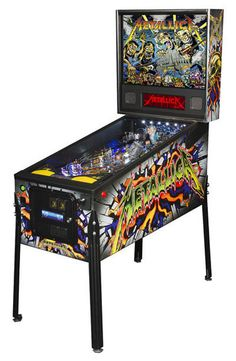 "- Product Description - Product Specs - About ""it's been a long time in the making, so we are proud to finally announce the arrival of a first for us – an all Metallica pinball machine! After years of"