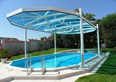 The entire variety of Lexan Polycarbonate Sheets in Mumbai is available at Kapoor Plastics – the foremost SABIC products distributor and supplier. The four decades experience helps the company to serve its clients with the difference. Backyard Pool Designs, Small Backyard Pools, Swimming Pool Designs, Outdoor Pool, Pool Landscaping, Plastic Swimming Pool, Swimming Pools, Above Ground Pool Decks, In Ground Pools