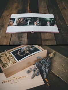 USB Presentation boxes and wedding album by Kerry Diamond Photography Más