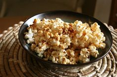 "Healthy Popcorn Recipes: great ideas! My favorite is using extra-virgin coconut oil, Himalayan pink salt and/or some Rapunzel Organic Whole Cane Sugar for ""kettle corn."" I also love the combo of melted coconut oil & any flavor Mrs. Dash (I like both the lemon and chili varieties)."