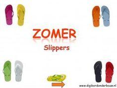 Digibordles Zomer: slippers. In deze digibordles gaan de kinderen op zoek naar…