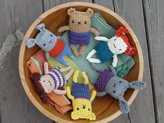 Anything Animals - free pattern., I made these, they're so lovely.