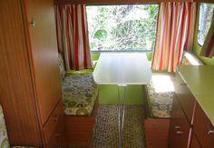 Retro green & red interior
