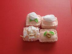 Felt Petit Fours Sweets Dessert Pretend Food by NeedleinTheThread