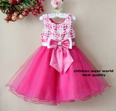 free shipping  New Arrival Kids Girl Fashion Party Dress Pink with Bow Beautiful Princess Dresses Children Clothes on AliExpress.com. $87.00