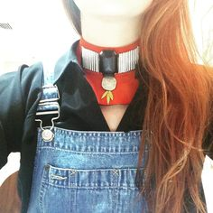 Casual monday look #overall #denim #ootd #necklace #statementpiece #jewelry #colors #ethnic #modern #Iwearparme #nonormcore