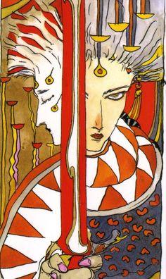 天野喜孝 タロットカード 小アルカナ・剣のペイジ / Yoshitaka Amano Tarot Cards Minor Arcana, PAGE of SWORDS